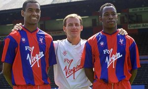 Mark Bright (left) and Ian Wright, Steve Coppell's potent twin strike force at Palace just over 20 years ago