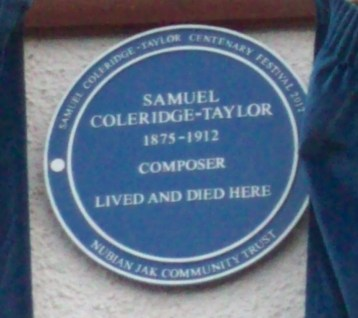 Properly commemorated: the blue plaque on the Waddon house where Samuel Coleridge-Taylor lived