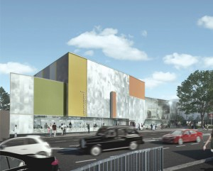 The architetcts' drawing of the Waddon Leisure Centre doesn't do its hideousness full credit