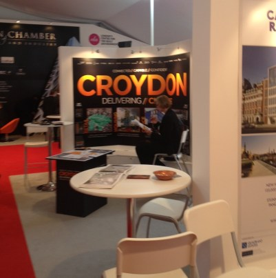 Busy, busy, busy: White Label's Croydon stand at MIPIM this morning