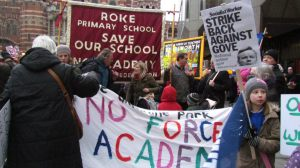 Save Roke protestors took their campaign to the Department for Education