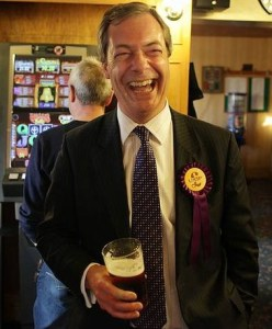 The toast of Coulsdon? Nigel Farage may have more UKIP success to toast in Croydon in 2014