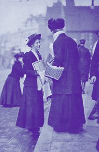 """suffragette week in Croydon high street"""" in 1909"""