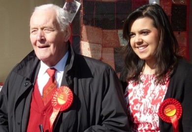 Emily Benn out campaigning with her grandfather: will we see Tony Benn canvassing in West Thornton