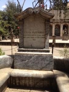 The grave of Sylvia Pankhurst in Ethiopia