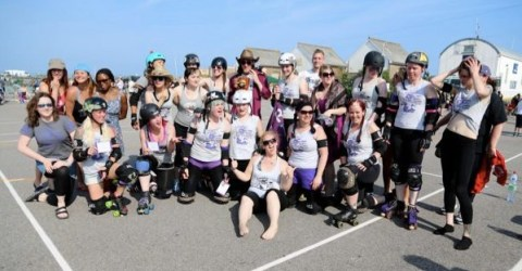 The CRD team celebrate after retaining their Eastbourne Extreme title
