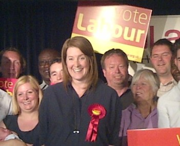 Sarah Jones at the hustings for Croydon Central this afternoon