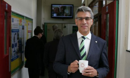 Steve Chalke: his academy's pupils are applauded