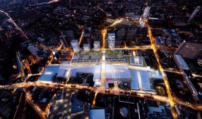 """One of Westfield's early """"visualisations"""" of its scheme for Croydon. Funny how the roads are highlighted..."""