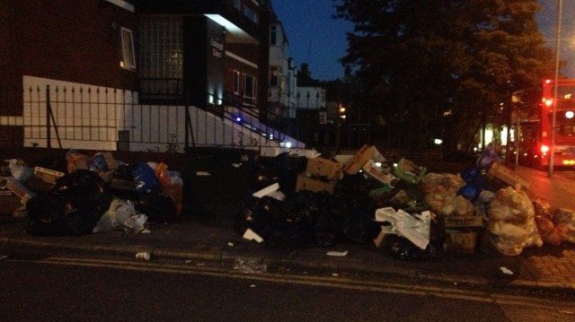 This pile of rubbish appeared just off London Road in the north of the borough overnight earlier this week. This is clearly not just the result of a resident of a local flat who has put out an over-flowing bin bag. This is fly tipping on a commercial scale. Yet despite Croydon being covered by hundreds of CCTV cameras, there's little evidence of the council taking any enforcement action against the tippers