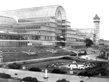 A vision of the future: Paxton's original Crystal Palace, photographed at Sydenham before the 1936 fire that destroyed it