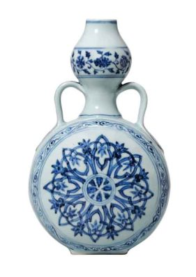 The Ming dynasty Moon flask from the Riesco Collection, sold to the highest bidder at £2.2m