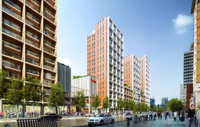 How Westfield imagine Wellesley Road might look, with towers of apartments, looking like a Costa del Croydon according to some