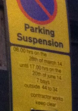 Butcher parking picture