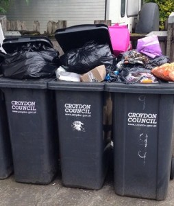 This is what residents' bins look like with Croydon opting for fortnightly collections, says MP Steve Reed OBE