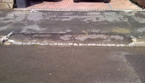 One kerb, dropped, largely at Council Tax-payers' expense