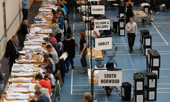 The Croydon Council count on election night 2014