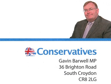Are Croydon's Tories undergoing some sort of identity crisis? The masthead picture looks more like Mike Fisher than Gavin Barwell