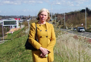 LibDem candidate Gill Hickson has been doing a lot of work on road issues in Coulsdon