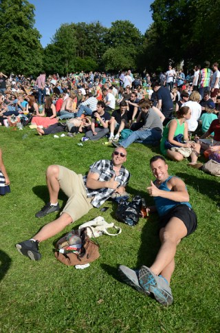 Last year's Overground Festival in Crystal Palace - free fun for all, thanks to generous local sponsors