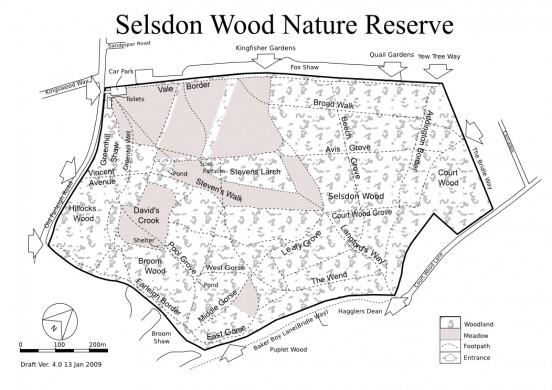 Selsdon Wood map