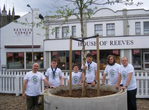 "Local Scouts have been working on the ""garden"" at Reeves Corner for Scout Community Week"