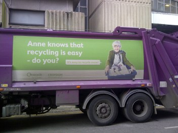 One early benefit of the Labour election victory: we won't have to see this Croydon Tory on the council's dustcarts ever again