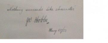 Jack Hobbs autograph