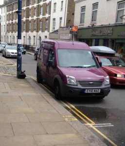 Council parking enforcement in Crystal Palace in July 2014