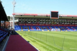 Selhurst Park, as tweeted by Steve Parish, with new pitch and surrounds, looks ready for the season