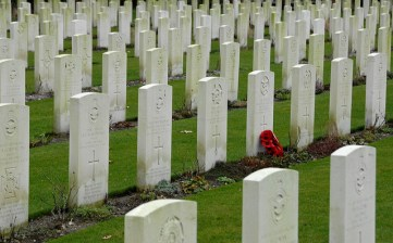 The war graves at Oosterbeek, outside Arnhem, where 1,700 allied soldiers are buried, will the the focus of the 70th anniversary commemorations
