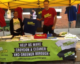 "Stuart Collins (right) has got the slogan and the T-shirt. But just how ""green"" is Croydon's Labour-run council, which has gone quiet on opposition to the incinerator?"