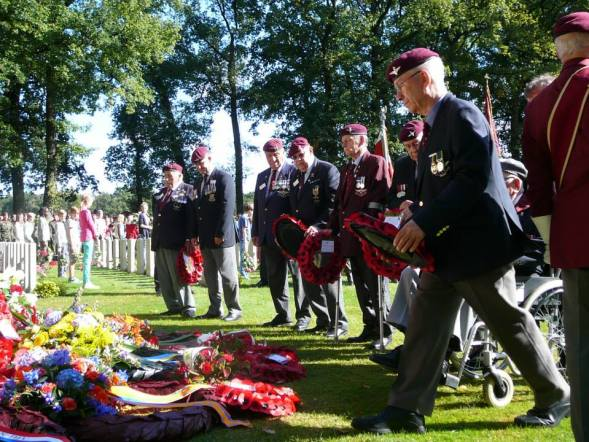 The wreath-laying ceremony at Osterbeek cemetery last Sunday