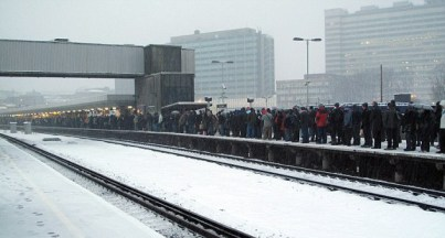 Commuters were left stranded by rail cancellations at East Croydon Station