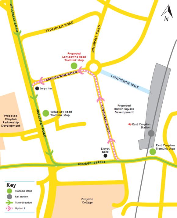 Tram extension Option 1