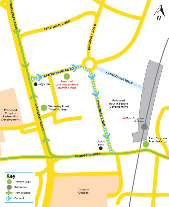 Tram extension Option 2