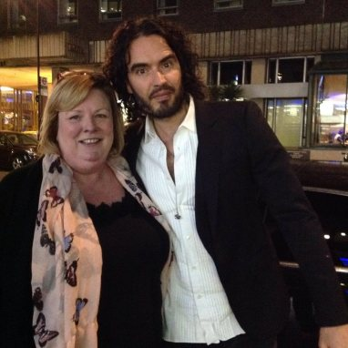 Russell Brand for once is lost for words. Or maybe he could not get a word in edgeways with the CCC chairwoman