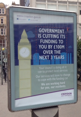 Getting their excuses in early? Should Council Tax pay for political propaganda, such as this?