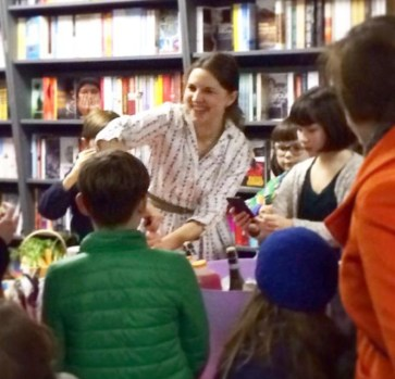 Author Rachel de Thample at the launch of her book Five in Upper Norwood this week