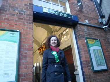 Green candidate Tracey Hague: hopes that a recent surge in membership may translate into votes
