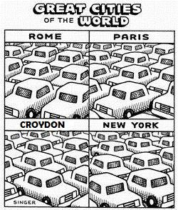 Traffic cartoon