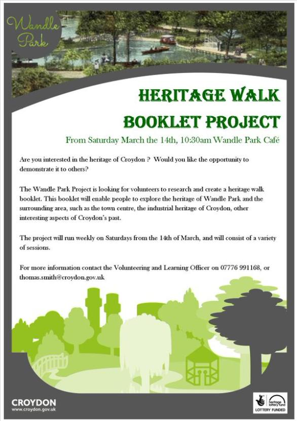 Wandle Park Heritage Booklet