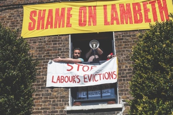 These are the secens provoked in Lambeth, under a Labour authority, under a policy introduced under Steve Reed