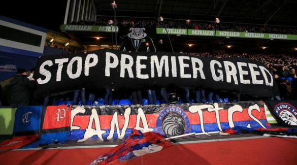 The Holmesdale End at Selhurst Park has offered a radical outlook on life in the Premier League