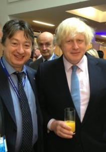 """Alexander Temerkop with another of his Tory chums, Boris """"part-time mayor"""" Johnson"""