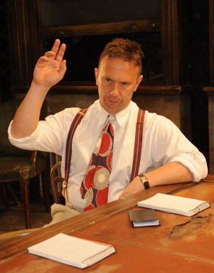 Get's our vote: Jason Merrell as Juror 8 in Twelve Angry Men at the Ashcroft Theatre this week