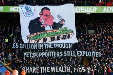 Banned: wit, freedom of expression and social conscience. A thing of the past at Selhurst Park