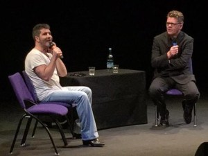 Simon Cowell spent some time speaking to pupils at the BRIT School
