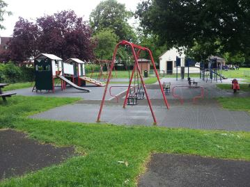 How the Grange Park play area looks today. The Friends of the park want to give it a complete revamp