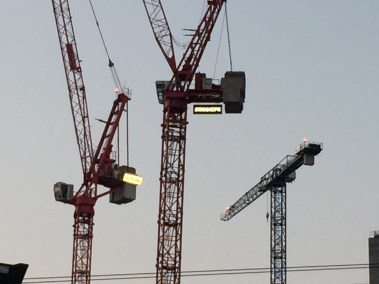 Ruskin Square: construction cranes are busy on site, but there remains no anchor tenant for the proposed office blocks